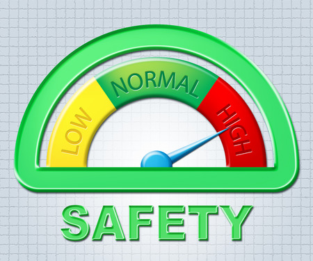 excess: High Safety Representing Warning Excess And Higher Stock Photo