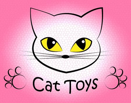 playthings: Cat Toys Showing Pets Plaything And Kitten