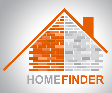 finders: Home Finder Indicating Search For And Searching Stock Photo