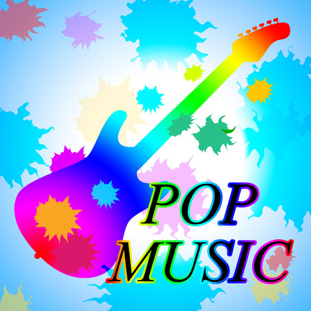 popular: Pop Music Showing Popular Tune And Tunes