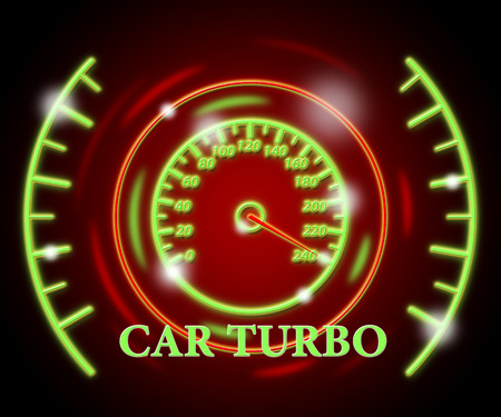 turbocharger: Car Turbo Indicating High Speed And Indicator