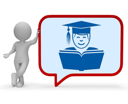 taught: Teacher Speech Bubble Indicating Give Lessons And Dialog 3d Rendering