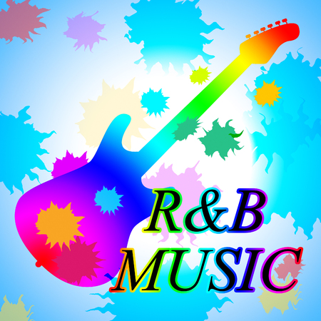 R&B Music Indicating Rhythm And Blues And Sound Audio