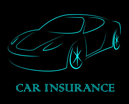 insured: Car Insurance Representing Transport Vehicles And Insured