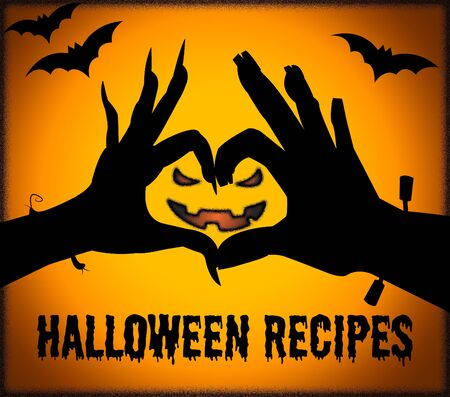 haunting: Halloween Recipes Indicating Trick Or Treat And Prepare Food
