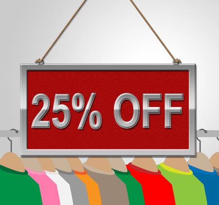 bargains: Twenty Five Percent Indicating Sign Bargains And Bargain Stock Photo
