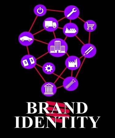 brand identity: Brand Identity Representing Corporate Business And Identification