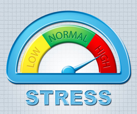 pressured: High Stress Meaning Tension Scale And Pressures Stock Photo
