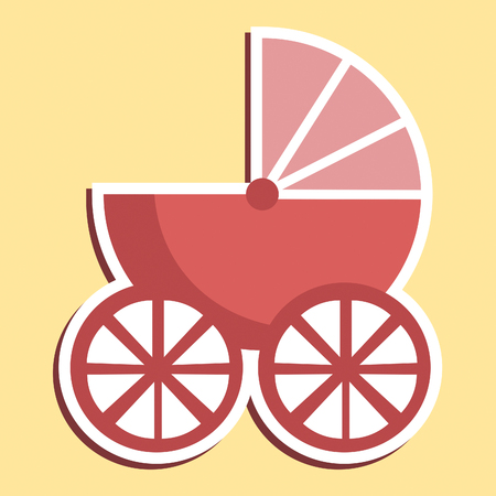 prams: Pram Icon Meaning Sign Perambulator And Parenting Stock Photo