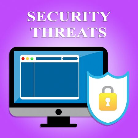 ultimatum: Security Threats Representing Risks Dangers And Encrypt Stock Photo