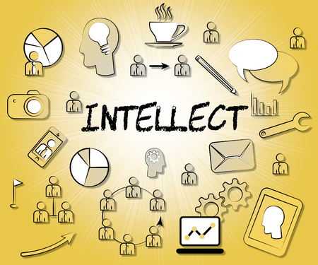 intellect: Intellect Icons Meaning Smartness Perceptiveness And Brainpower