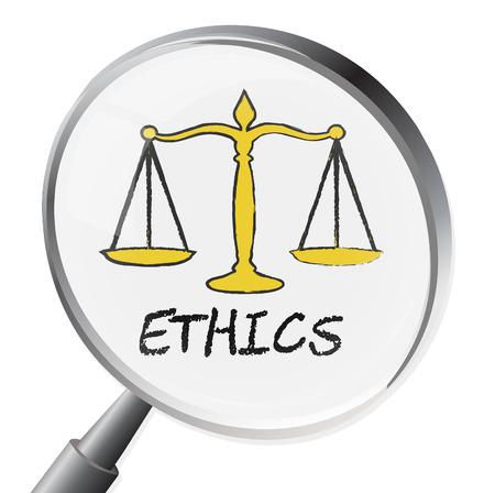 valores morales: Ética de la lupa Significado posición moral y virtudes