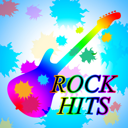 soundtrack: Rock Hits Showing Music Charts And Soundtrack