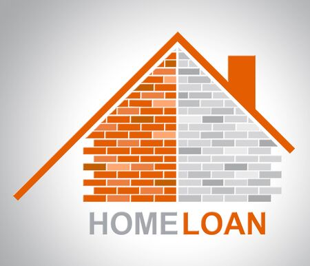 loaning: Home Loan Showing House Housing And Lends