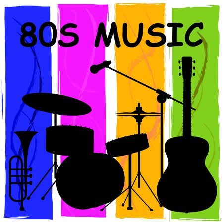 eighties: Eighties Music Showing Sound Track And Melody