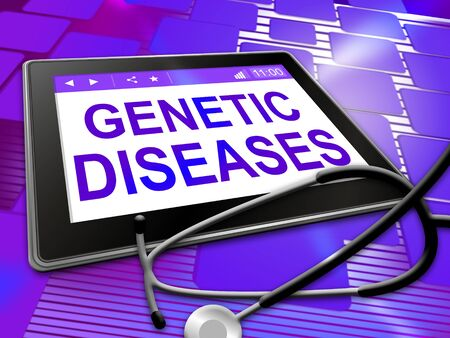 genetic: Genetic Diseases Indicating Online Tablet And Ill