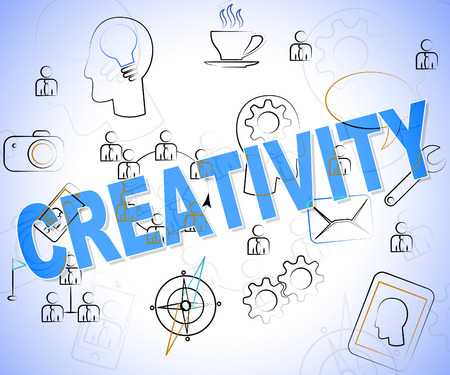 artistic designed: Creativity Word Indicating Concept Concepts And Vision