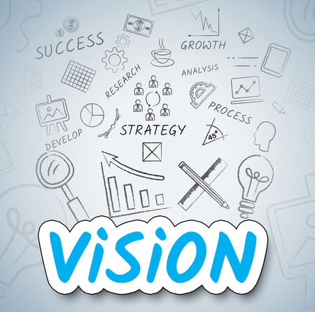 inventions: Vision Ideas Showing Commerce Inventions And Thinking Stock Photo