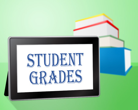 grades: Student Grades Showing Study Tablet And Intelligence