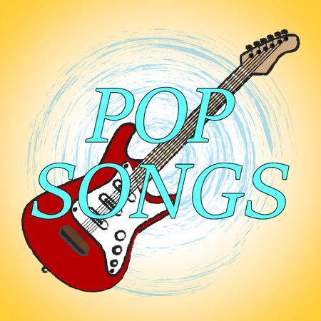 popular: Pop Songs Meaning Popular Music And Sound Stock Photo