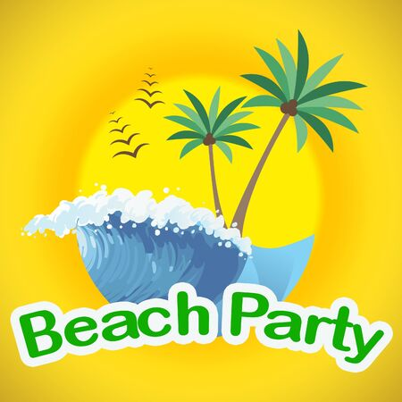 coasts: Beach Party Showing Seaside Seafront And Coasts
