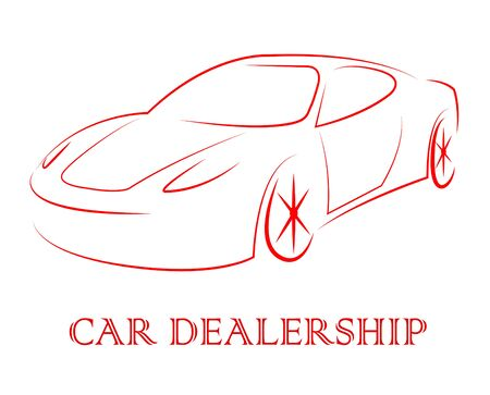business concern: Car Dealership Indicating Business Organisation And Franchise