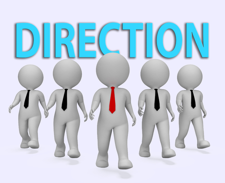 entrepreneurial: Direction Businessmen Representing Entrepreneurial Target And Advance 3d Rendering