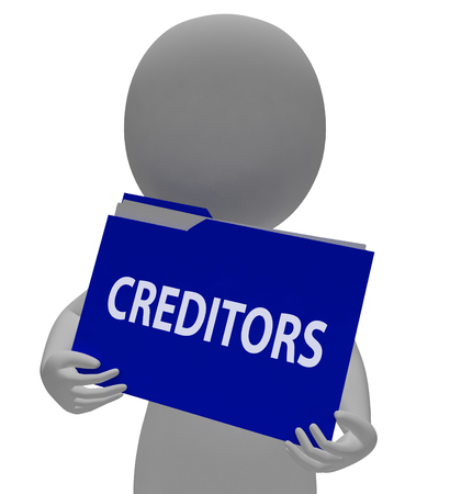 creditors: Creditors Folder Meaning Money Folders And Finance 3d Rendering