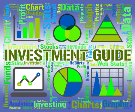 Investment Guide Showing Business Graph And Graphs Stock Photo