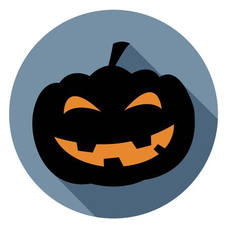 haunting: Halloween Pumpkin Icon Indicating Trick Or Treat And Trick Or Treat