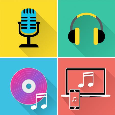 iconos de m�sica: Iconos de la m�sica Mostrando la pista de sonido y la banda sonora