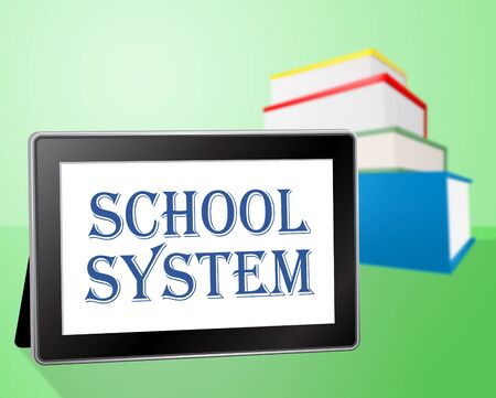 educated: School System Representing Books Educated And Book Stock Photo