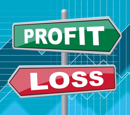 exhibiting: Profit Loss Representing Template Signage And Investment