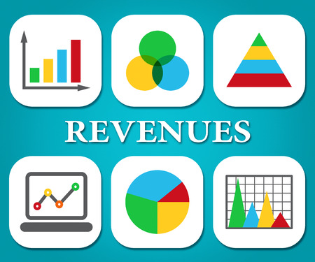 earns: Revenues Charts Indicating Earns Earn And Statistics
