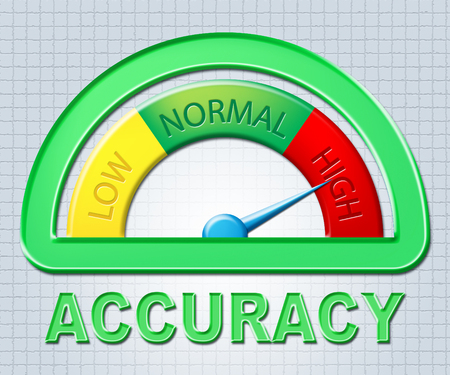 accuracy: High Accuracy Showing Precision Measure And Meter