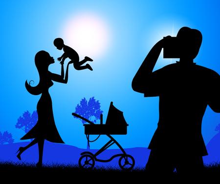 kin: Photograph Baby Indicating Sibling Kin And Photographs