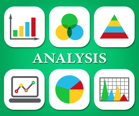 investigates: Analysis Charts Representing Business Graph And Infograph