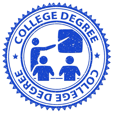 qualifications: College Degree Showing Training Learned And Qualification