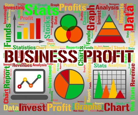 profiting: Business Profit Showing Infograph Investment And Corporate