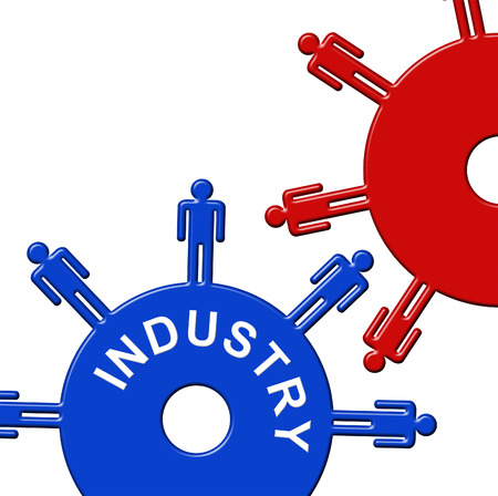 Industry Cogs Showing Gear Wheel And Collaboration