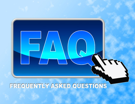 Faq Button Representing Frequently Asked Questions And Web Site