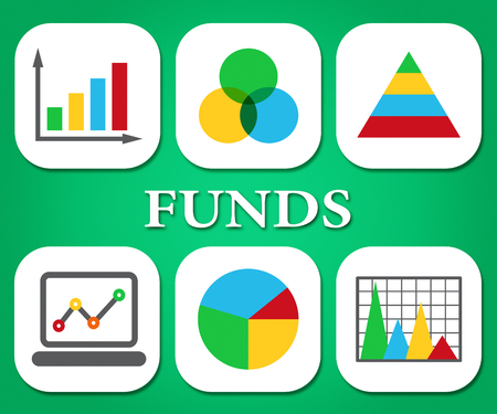 statistical: Funds Charts Representing Stock Market And Statistical Stock Photo