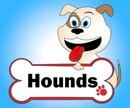 hound dog: Hound Dog Indicating Doggie Dogs And Pets