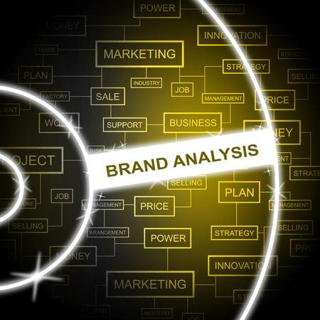 Brand Analysis Meaning Data Analytics And Trademark Banco de Imagens