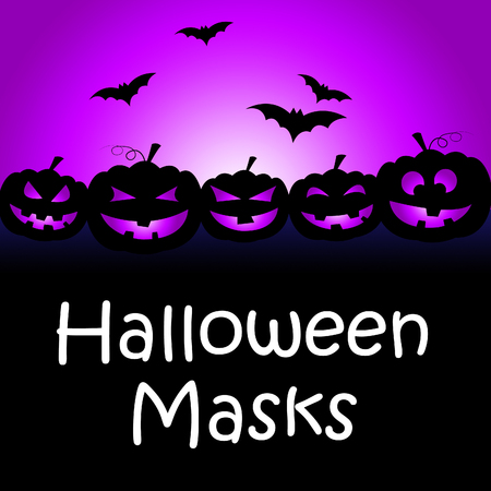 fancy dress: Halloween Masks Meaning Trick Or Treat And Fancy Dress