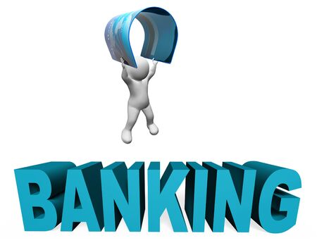 bankcard: Banking Credit Card Meaning Banks Debit And Purchase 3d Rendering Stock Photo