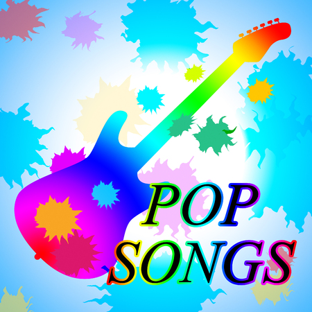melodies: Pop Songs Showing Sound Track And Melodies Stock Photo