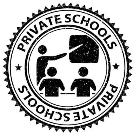 learned: Private Schools Representing Non Government And Learned Stock Photo