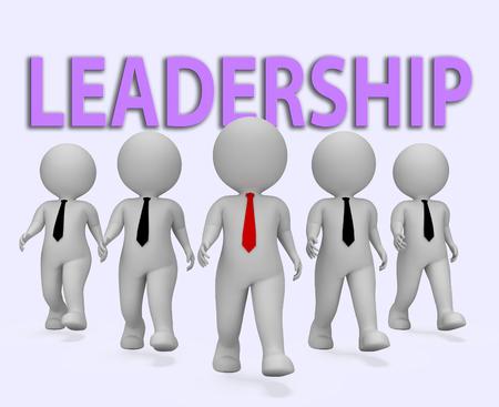 entrepreneurial: Leadership Businessmen Showing Entrepreneurial Authority And Initiative 3d Rendering