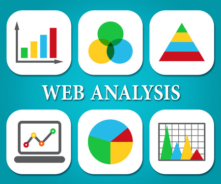 Web Analysis Meaning Business Graph And Analyse Banco de Imagens - 61359423